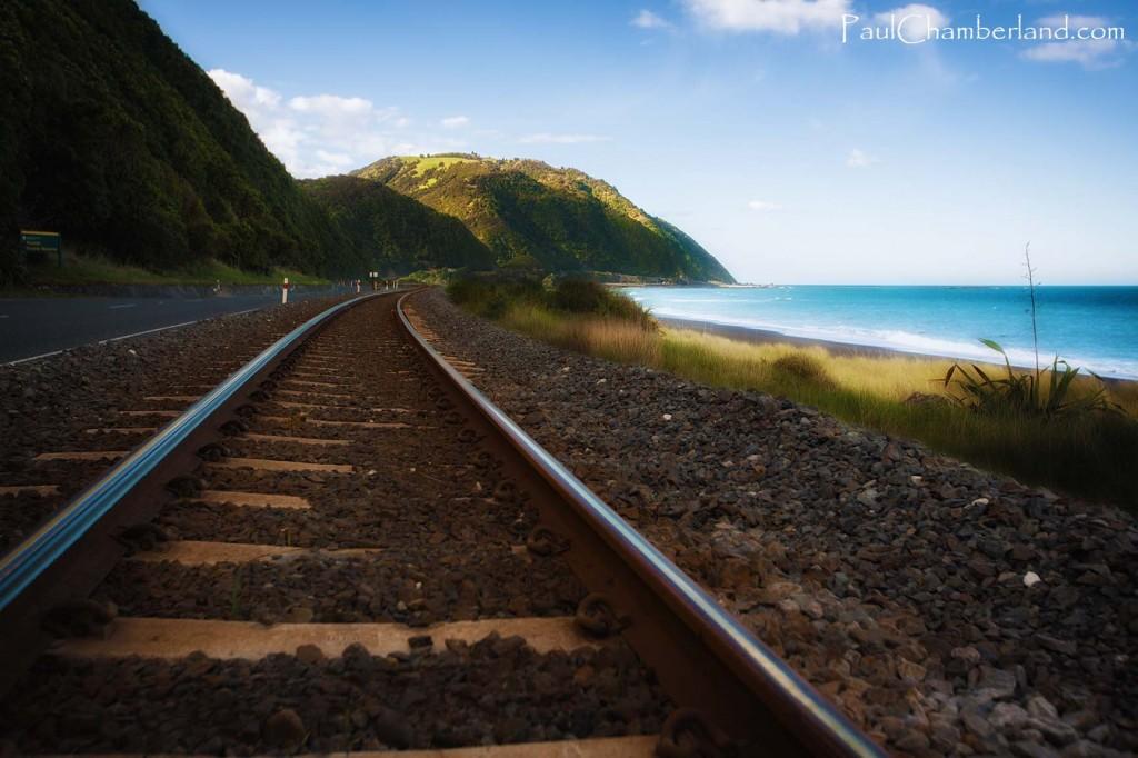 Nouvelle Zélande-île du sud-Mer Tasman-Chemin de fer