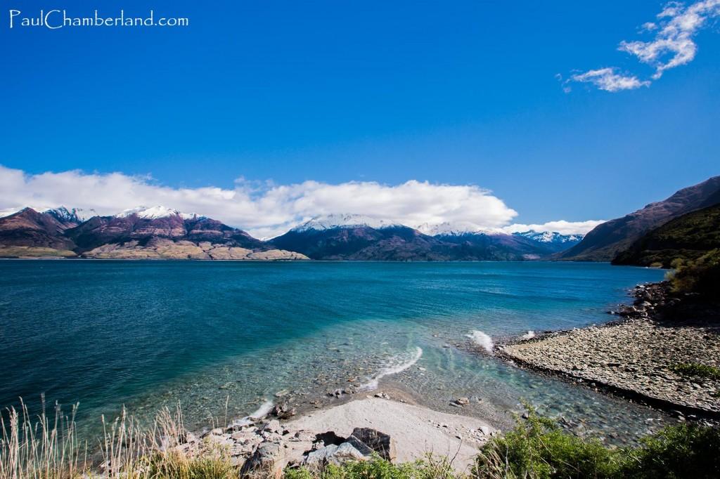 Nouvelle Zélande-île du sud-Lac Makarora-Piscine d'eau bleu